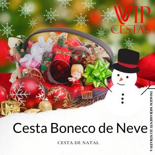 13 – Cesta de Natal bh Boneco de Neve